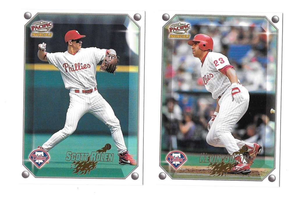 1998 Pacific Invincible Gems of the Diamond - PHILADELPHIA PHILLIES Team Set