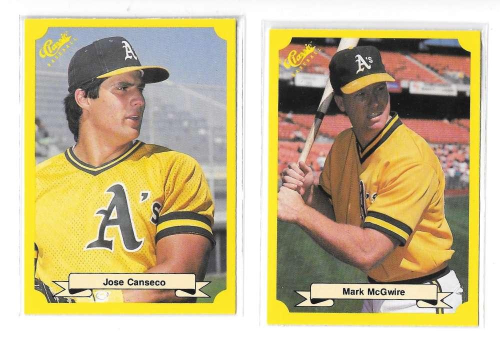 1987 Classic Yellow Update w/Green Back OAKLAND A's Team set