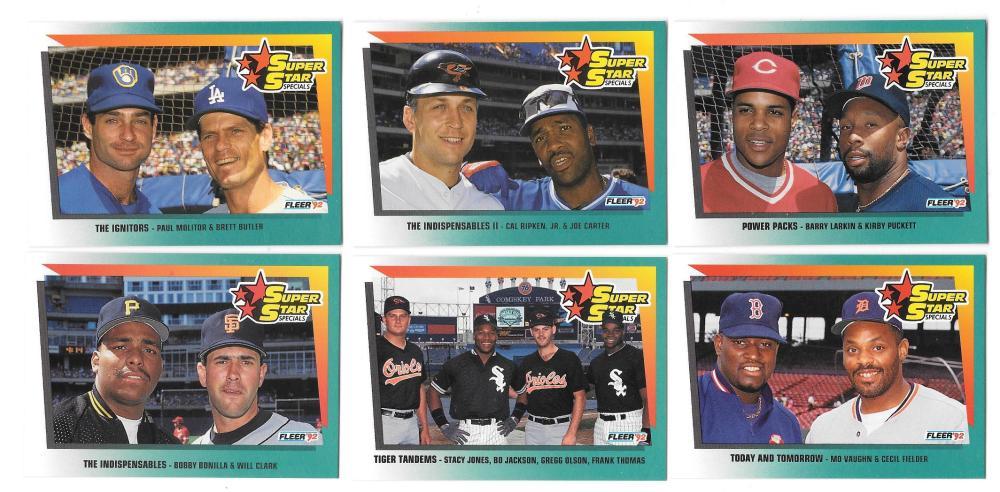 1992 Fleer - 10 card combos subset