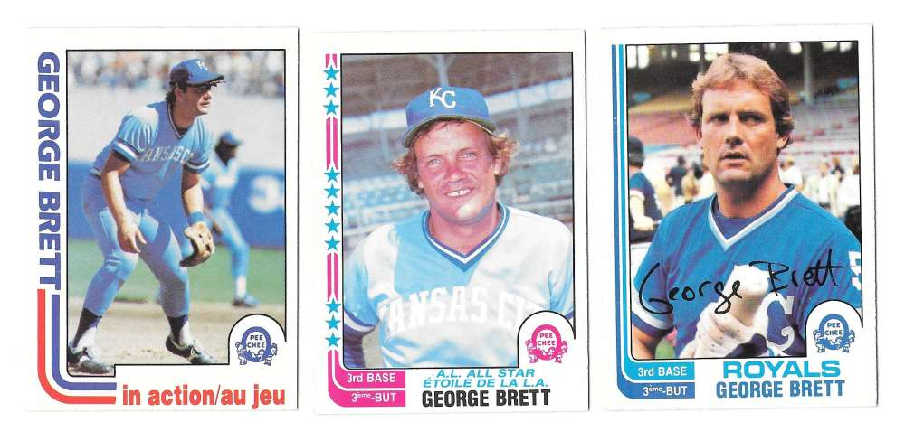 1982 O-Pee-Chee (OPC) - KANSAS CITY ROYALS Team Set