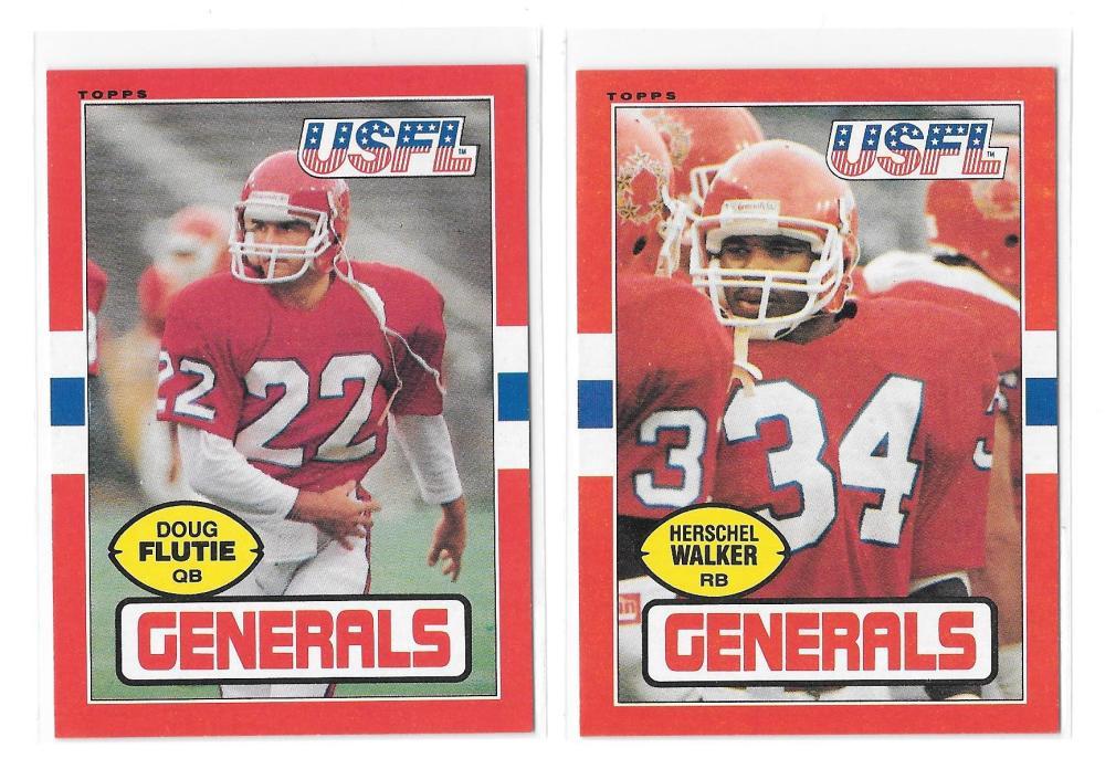 1985 Topps USFL Football Team Set - New Jersey Generals  B  w/ DOUG FLUTIE RC & Hershal Walker