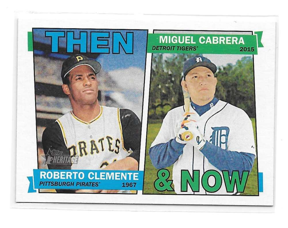 2016 Topps Heritage Then and Now - DETROIT TIGERS