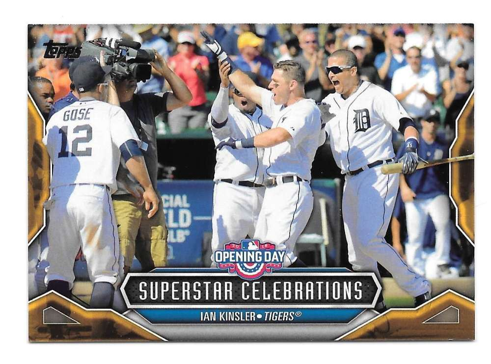 2016 Topps Opening Day Superstar Celebrations - DETROIT TIGERS
