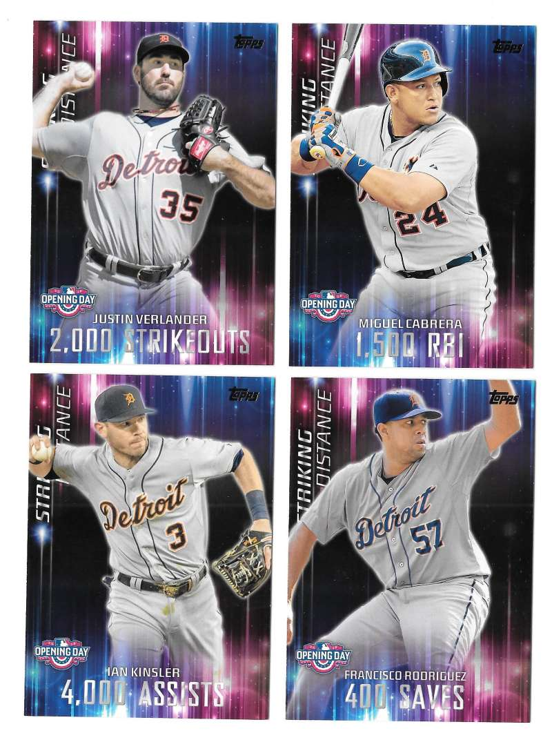 2016 Topps Opening Day Striking Distance - DETROIT TIGERS Team Set
