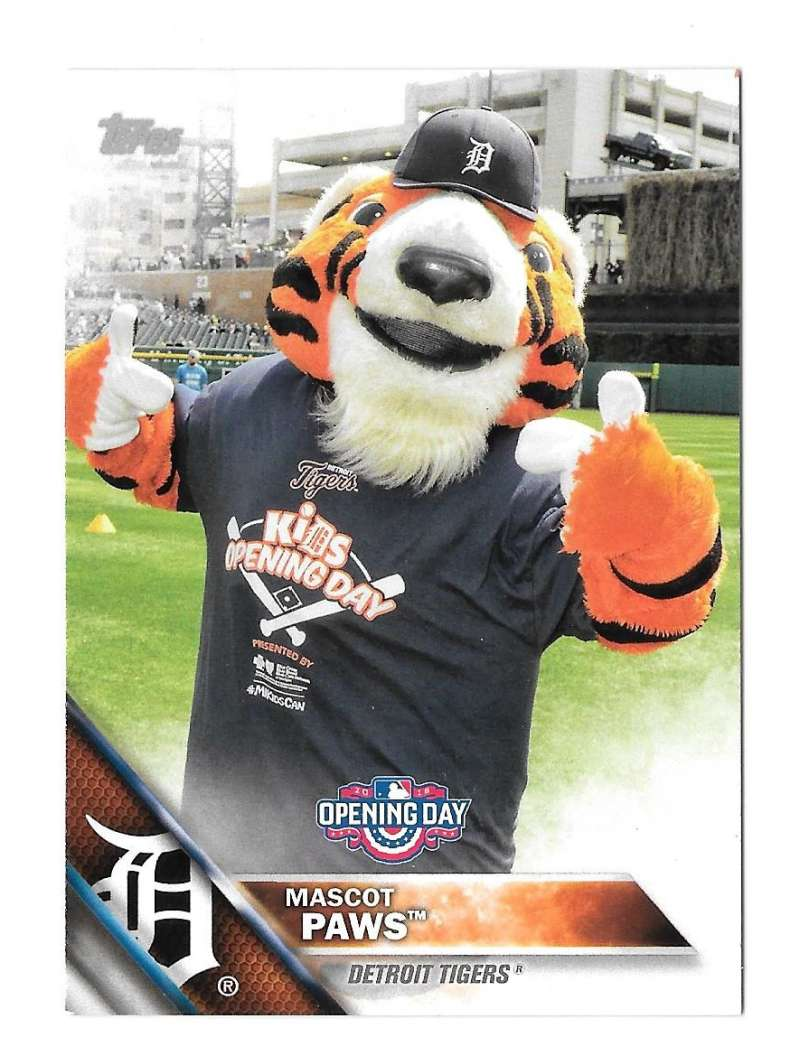 2016 Topps Opening Day Mascots - DETROIT TIGERS
