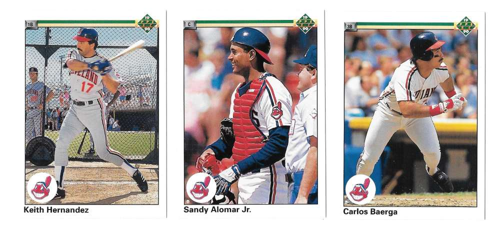 1990 Upper Deck Hi# CLEVELAND INDIANS Team Set