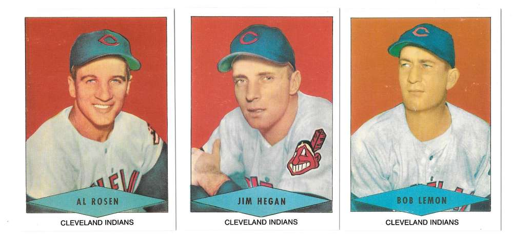 1954 Red Heart Reprints - CLEVELAND INDIANS Team Set