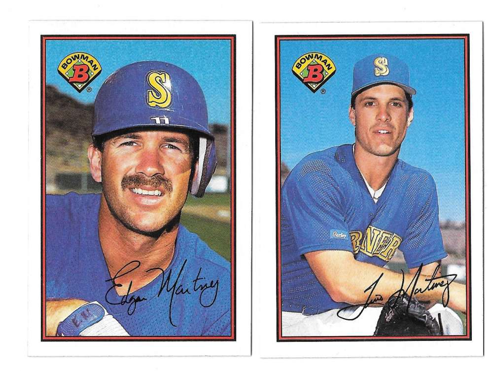 1989 Bowman - SEATTLE MARINERS Team Set w/out Griffeys