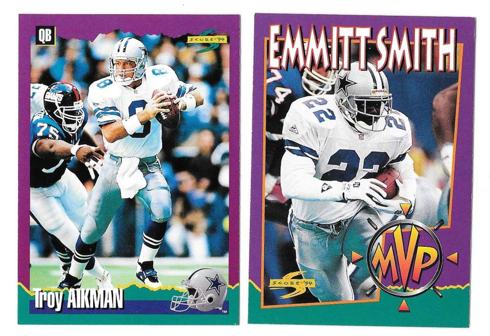 1994 Score Football Team Set - DALLAS COWBOYS