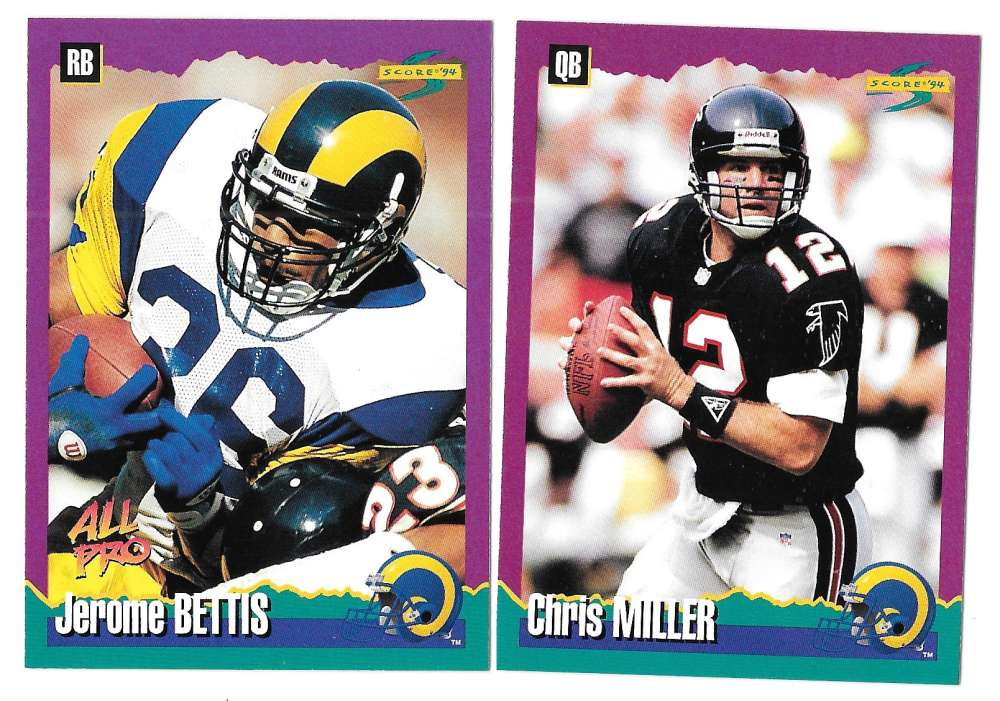 1994 Score Football Team Set - LOS ANGELES RAMS