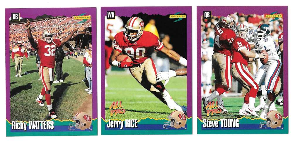 1994 Score Football Team Set - SAN FRANCISCO 49ERS