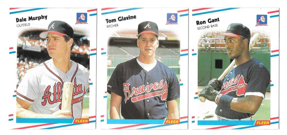 1988 FLEER - ATLANTA BRAVES Team Set