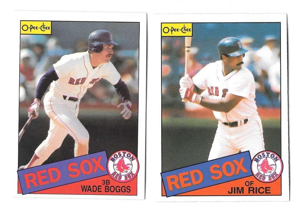 1985 O-Pee-Chee (OPC) - BOSTON RED SOX Team Set