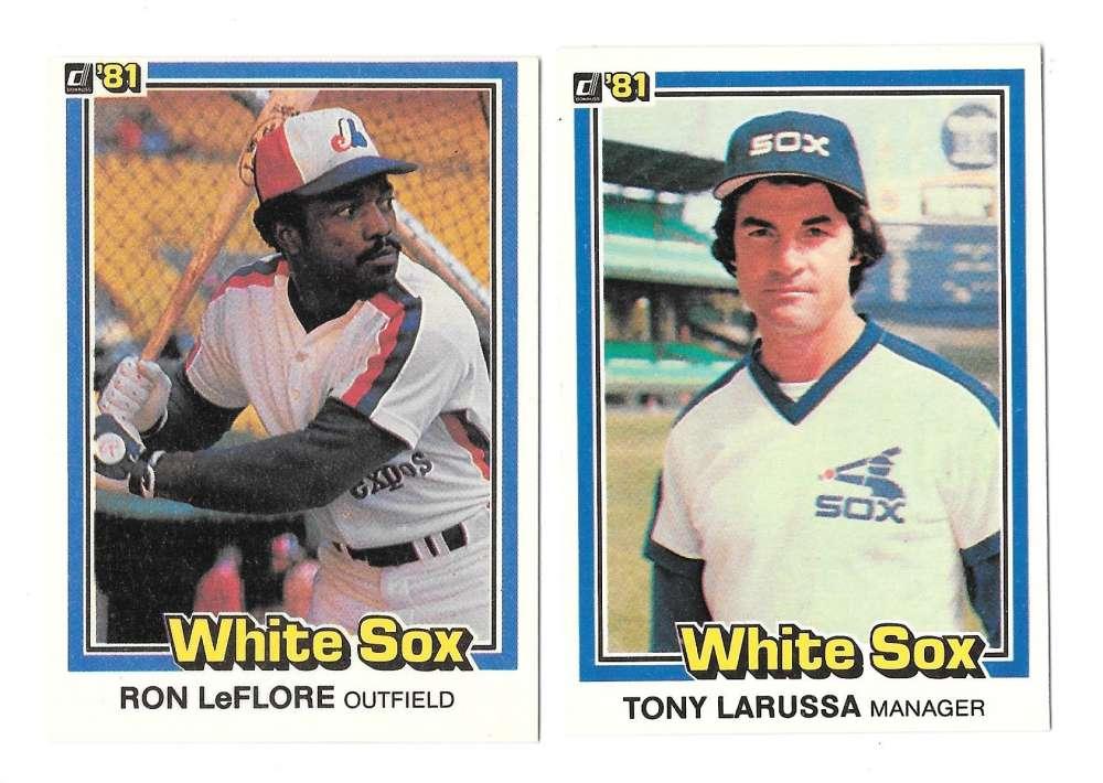 1981 DONRUSS - CHICAGO WHITE SOX Team Set