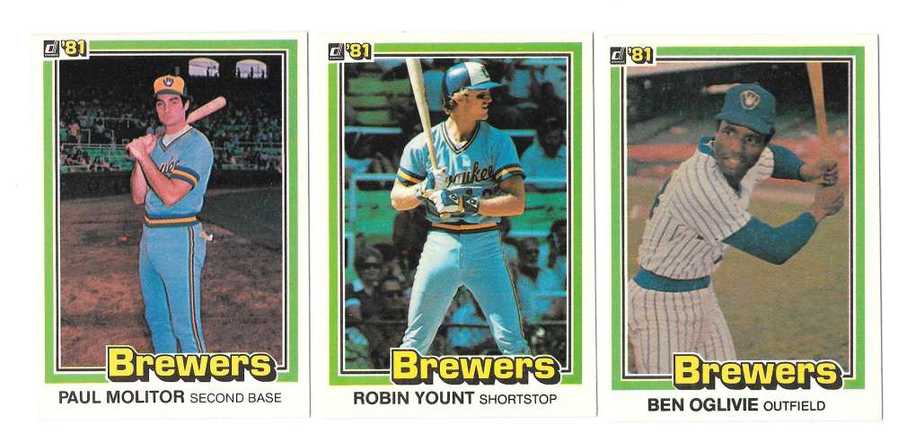 1981 DONRUSS - MILWAUKEE BREWERS Team Set