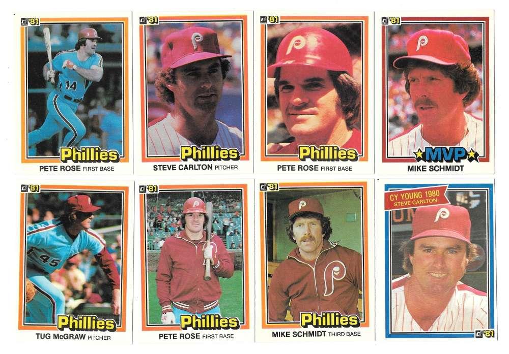 1981 DONRUSS - PHILADELPHIA PHILLIES Team Set