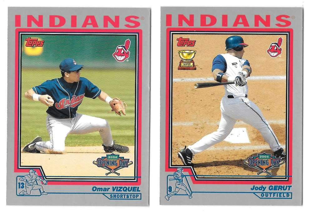 2004 Topps Opening Day - CLEVELAND INDIANS Team Set