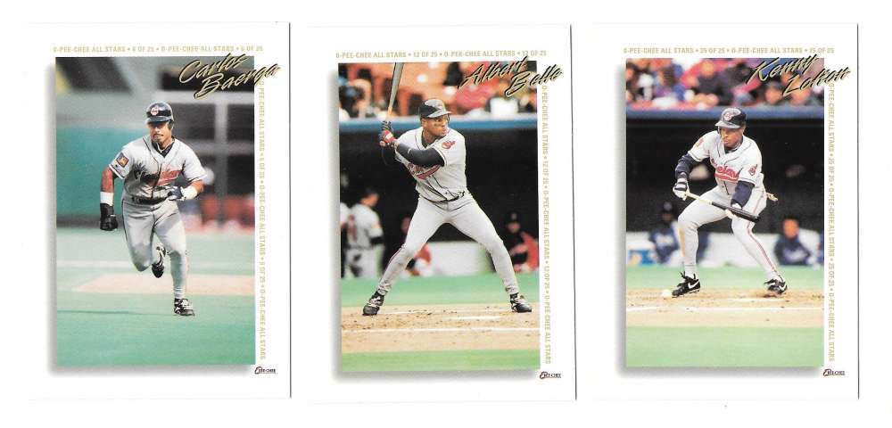 1994 O-Pee-Chee All-Star Redemptions - CLEVELAND INDIANS Team Set