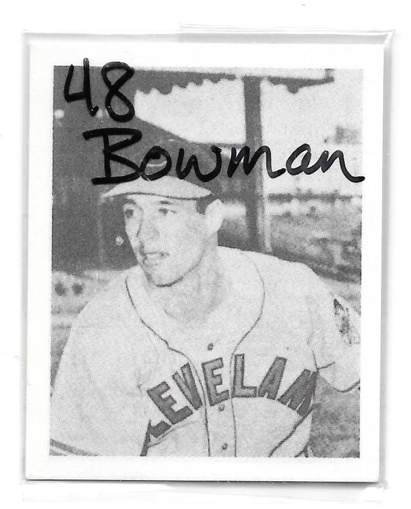 1948 Bowman Reprints - CLEVELAND INDIANS Team Set