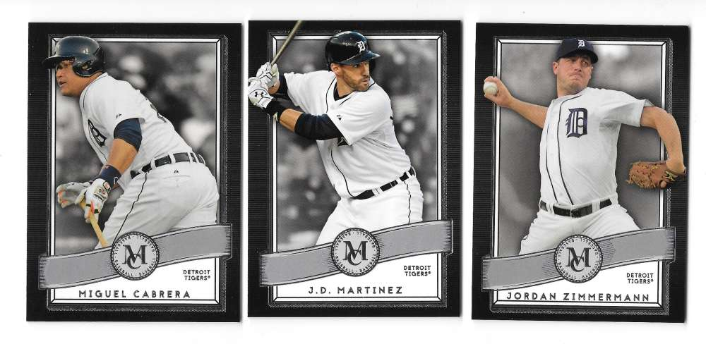 2016 Topps Museum Collection - DETROIT TIGERS Team Set