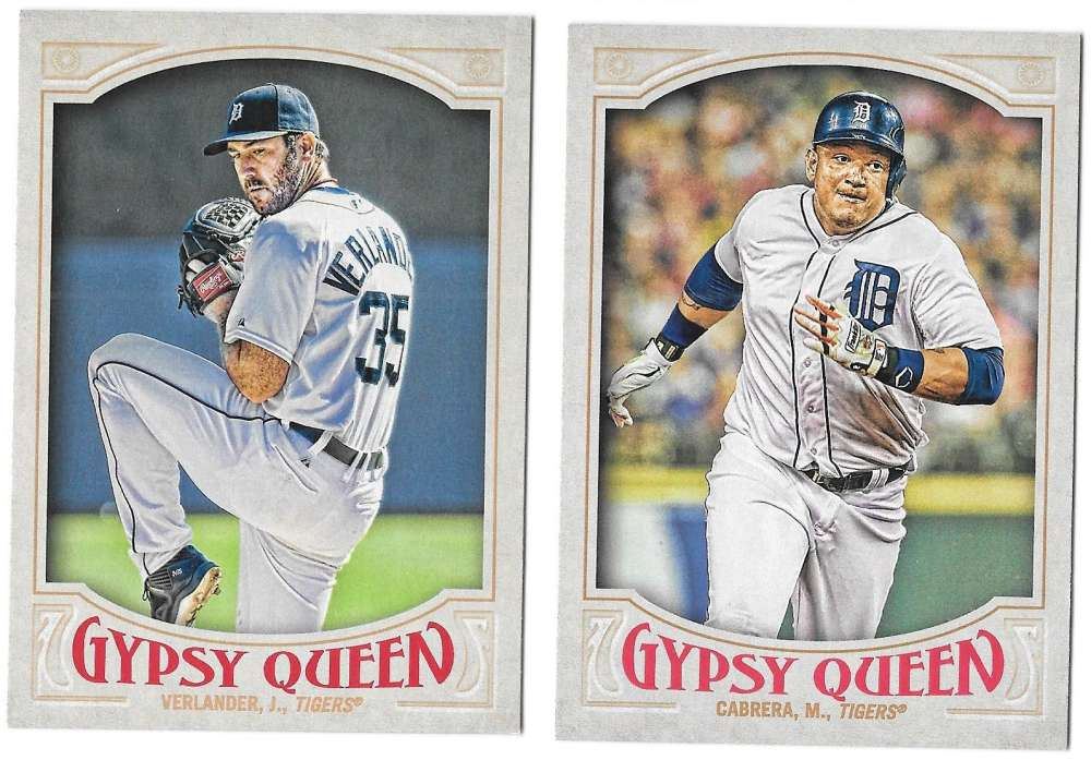 2016 Topps Gypsy Queen (Base) - DETROIT TIGERS Team Set