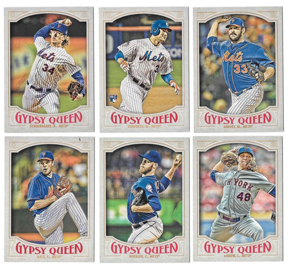 2016 Topps Gypsy Queen (Base) - NEW YORK METS Team Set