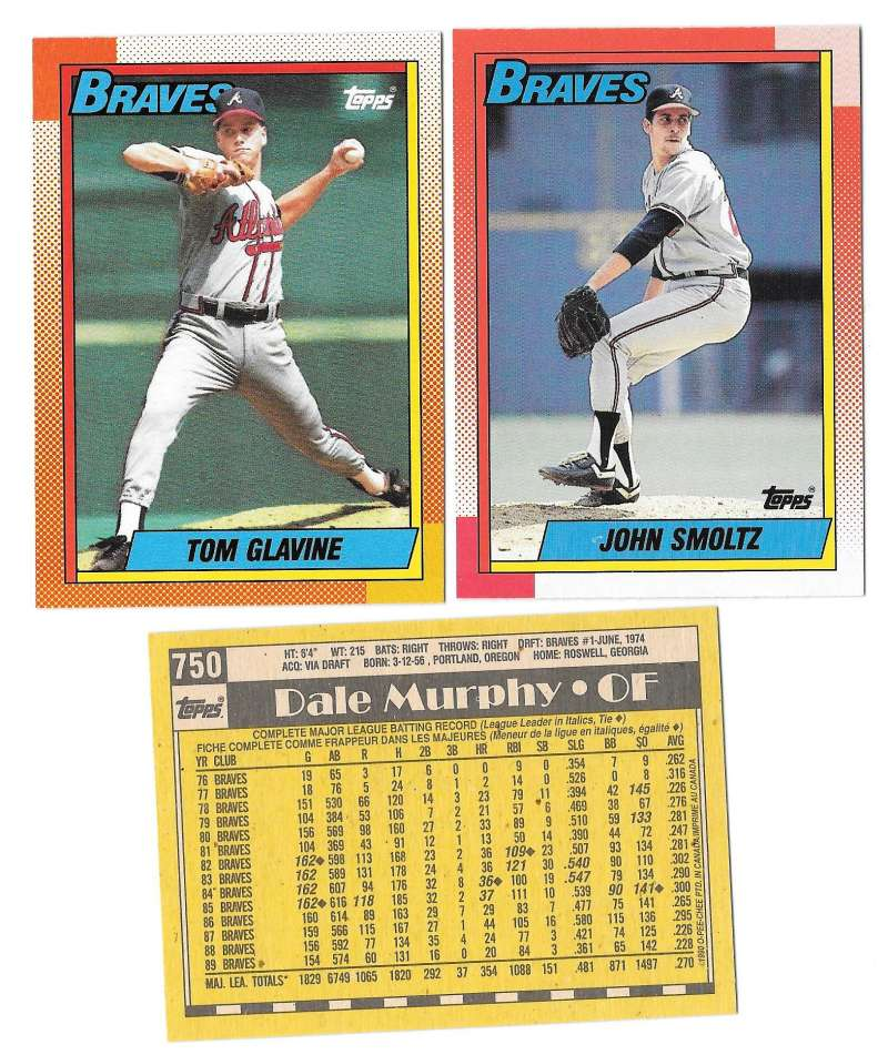 1990 O-Pee-Chee (OPC) - ATLANTA BRAVES Team Set