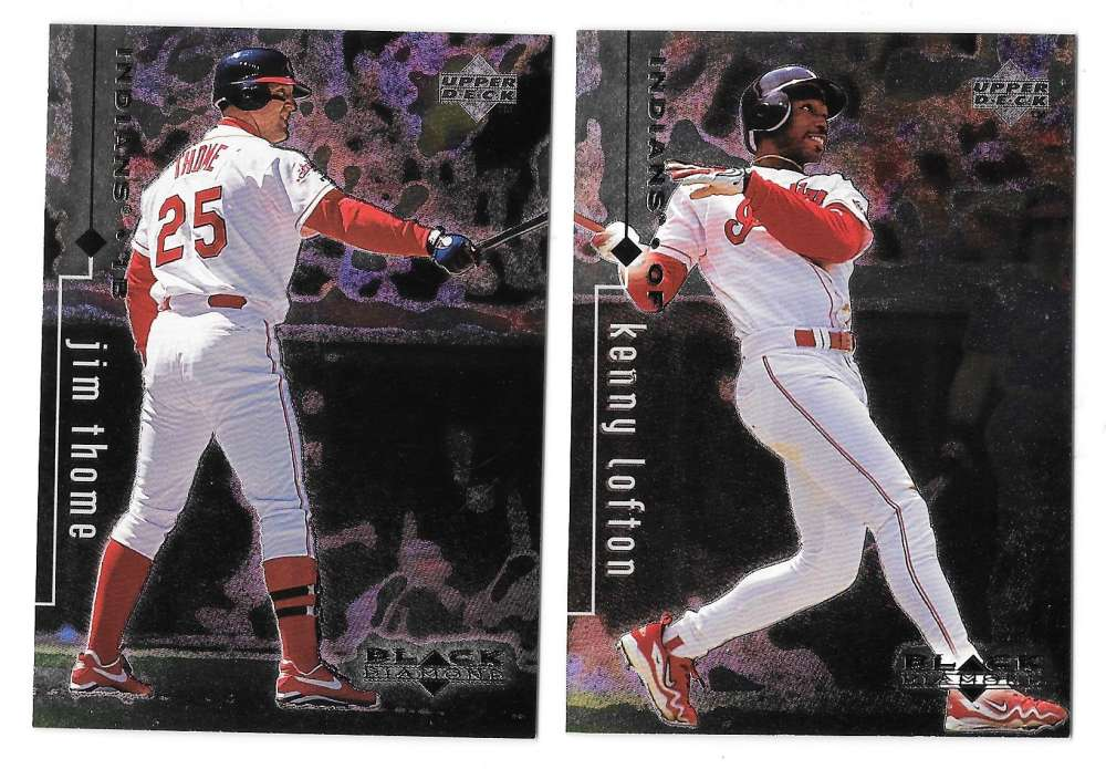 1999 Upper Deck Black Diamond - CLEVELAND INDIANS Team Set