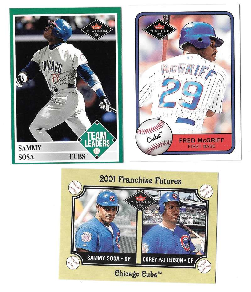 2001 Fleer Platinum Rookies - CHICAGO CUBS Team Set