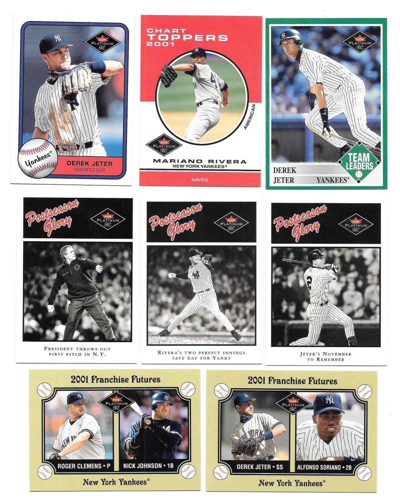 2001 Fleer Platinum Rookies - NEW YORK YANKEES Team Set