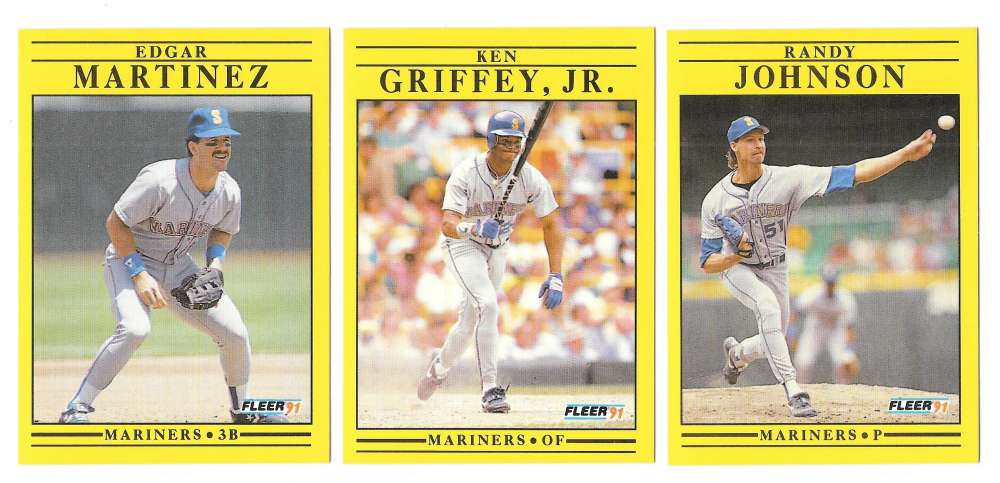 1991 FLEER - SEATTLE MARINERS Team Set
