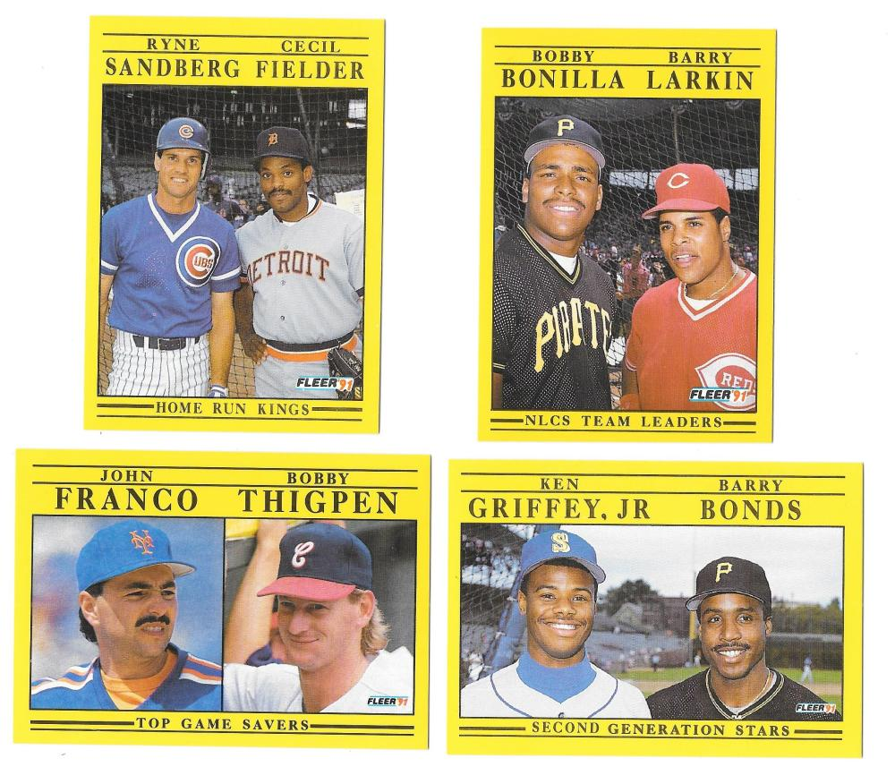 1991 Fleer - 4 card Multi player combo cards