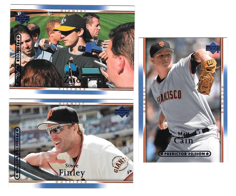 2007 UD MVP Predictor Prize (Blue) - SAN FRANCISCO GIANTS Team Set
