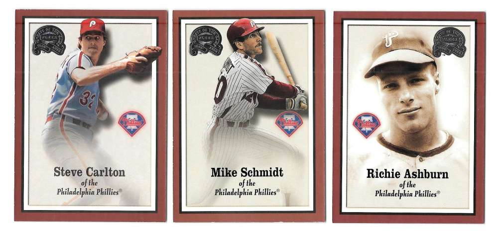 2000 Fleer Greats of the Game - PHILADELPHIA PHILLIES Team Set