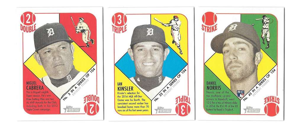 2015 Topps Heritage 51 Collection Mini Red Back - DETROIT TIGERS