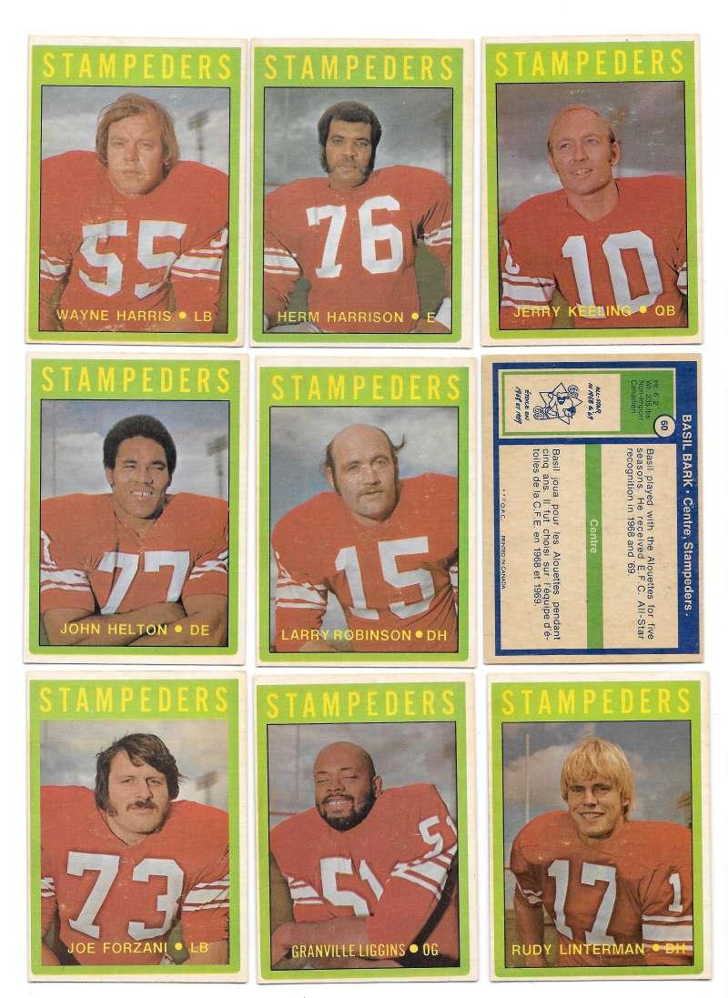 1972 O-Pee-Chee CFL Team Set - Calgary Stampeders