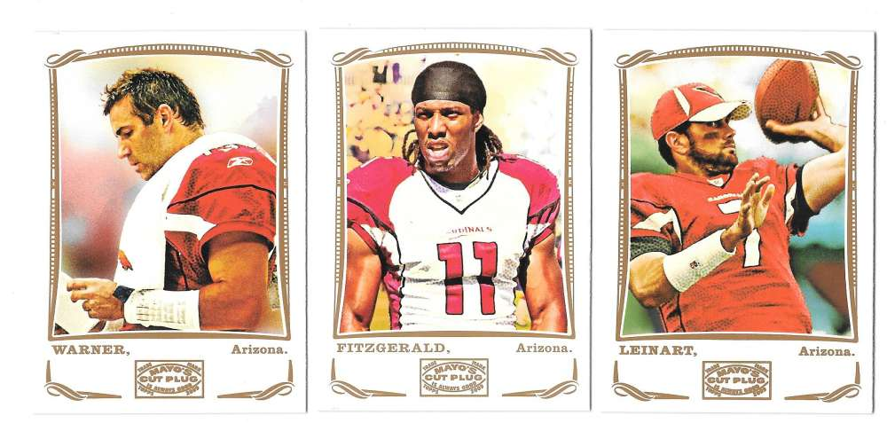 2009 Topps Mayo 1-330 Football Team Set - ARIZONA CARDINALS
