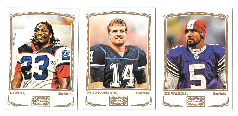 2009 Topps Mayo 1-330 Football Team Set - BUFFALO BILLS
