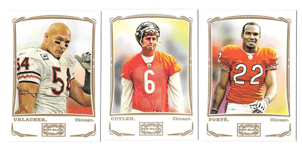 2009 Topps Mayo 1-330 Football Team Set - CHICAGO BEARS