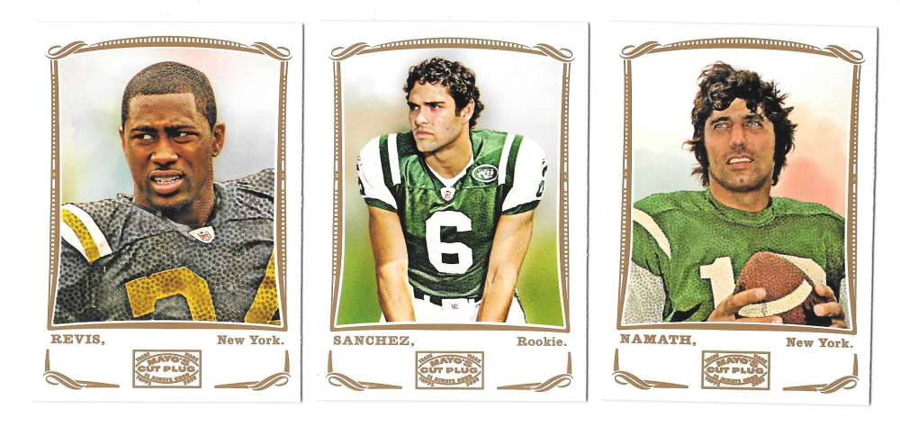 2009 Topps Mayo 1-330 Football Team Set - NEW YORK JETS