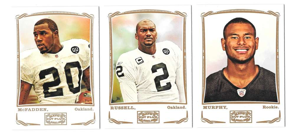 2009 Topps Mayo 1-330 Football Team Set - OAKLAND RAIDERS