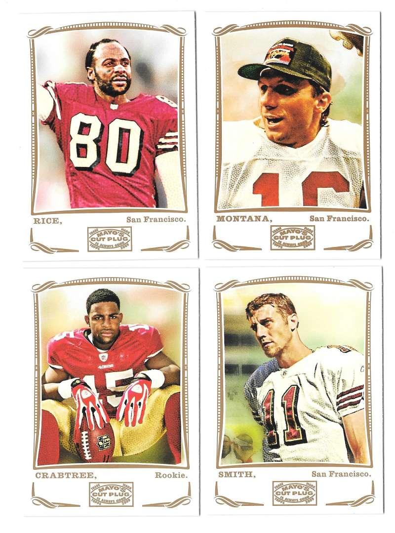 2009 Topps Mayo 1-330 Football Team Set - SAN FRANCISCO 49ERS