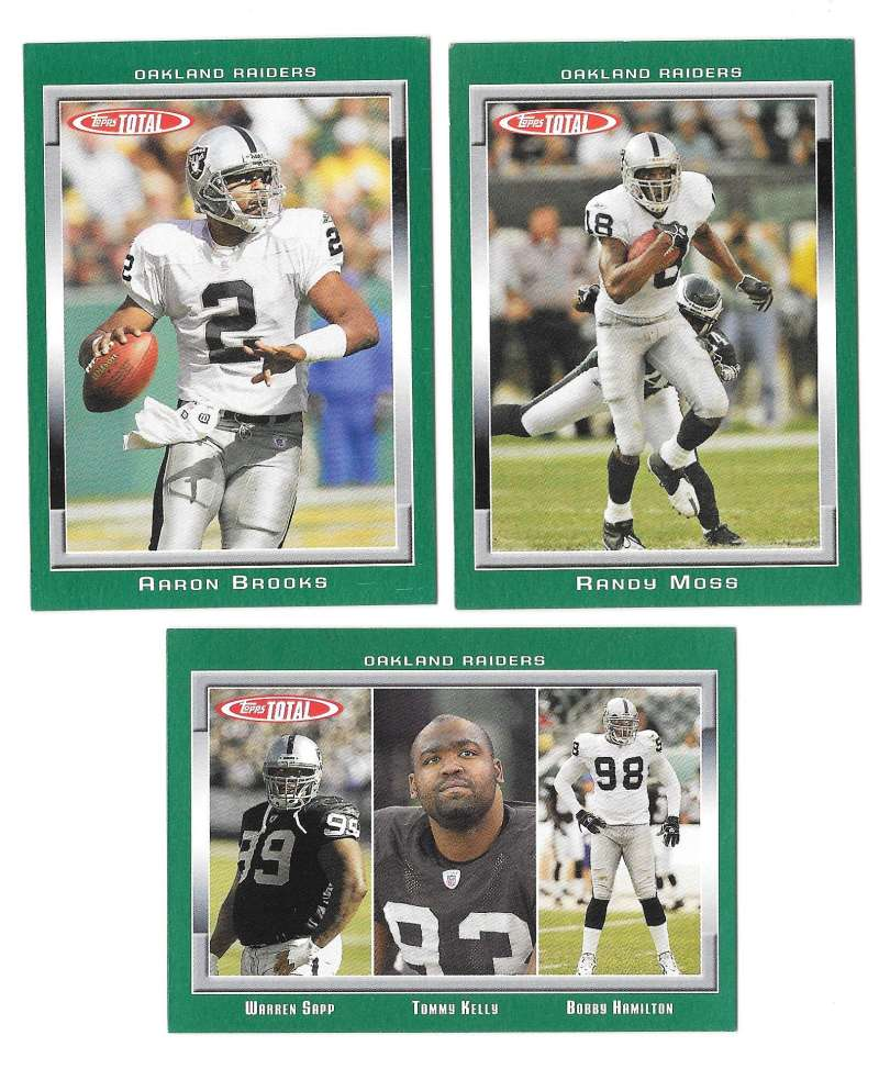 2006 Topps Total Football Team Set - OAKLAND RAIDERS