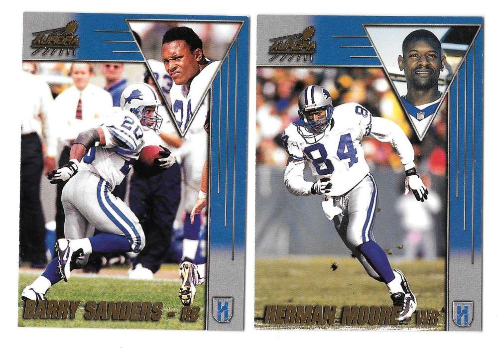 1998 Pacific Aurora Football Team Set - DETROIT LIONS