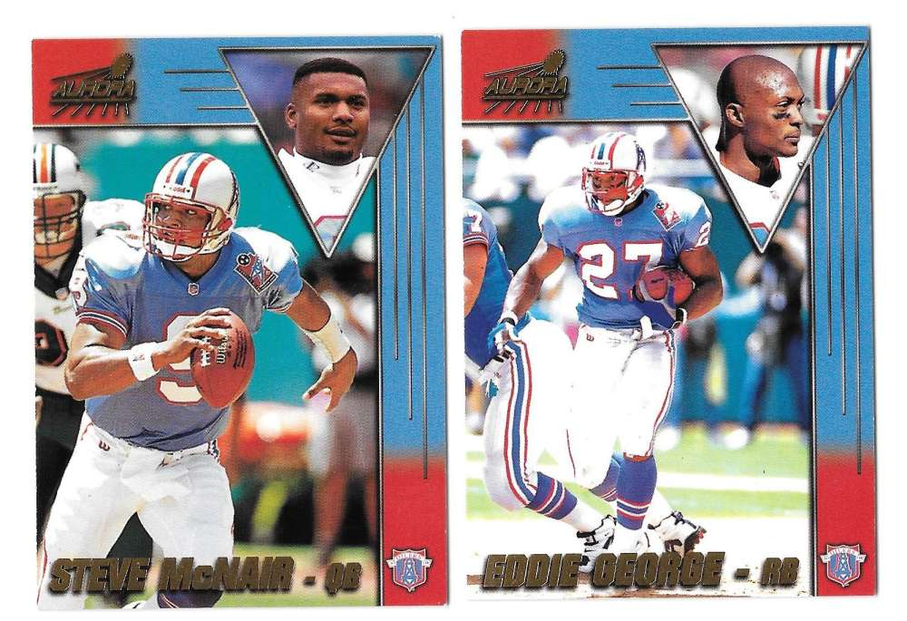 1998 Pacific Aurora Football Team Set - TENNESSEE OILERS