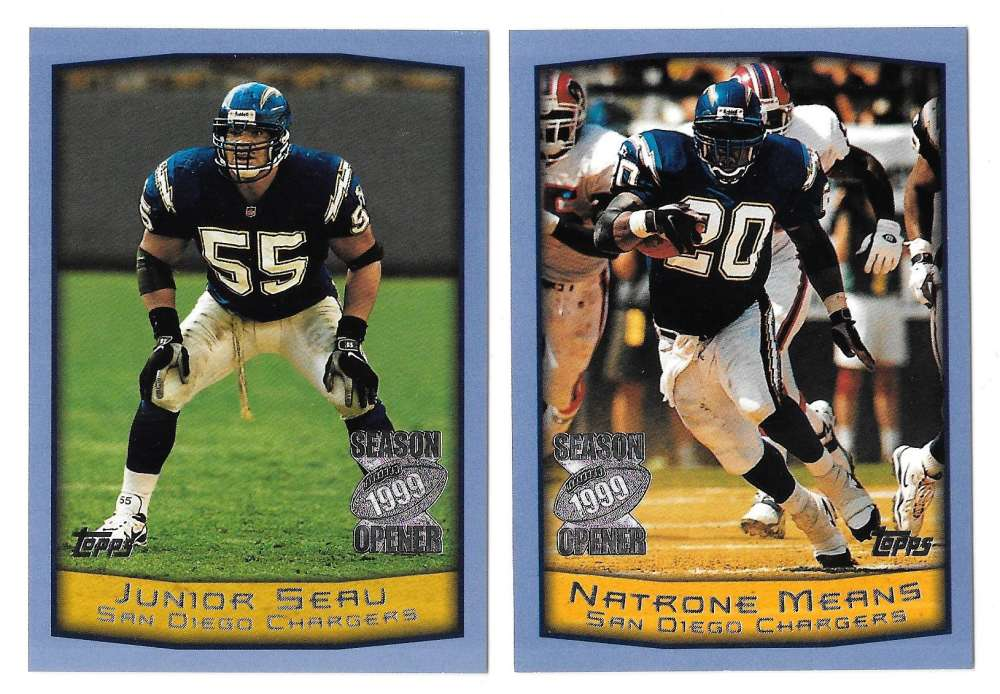 1999 Topps Season Opener Football Team Set - SAN DIEGO CHARGERS