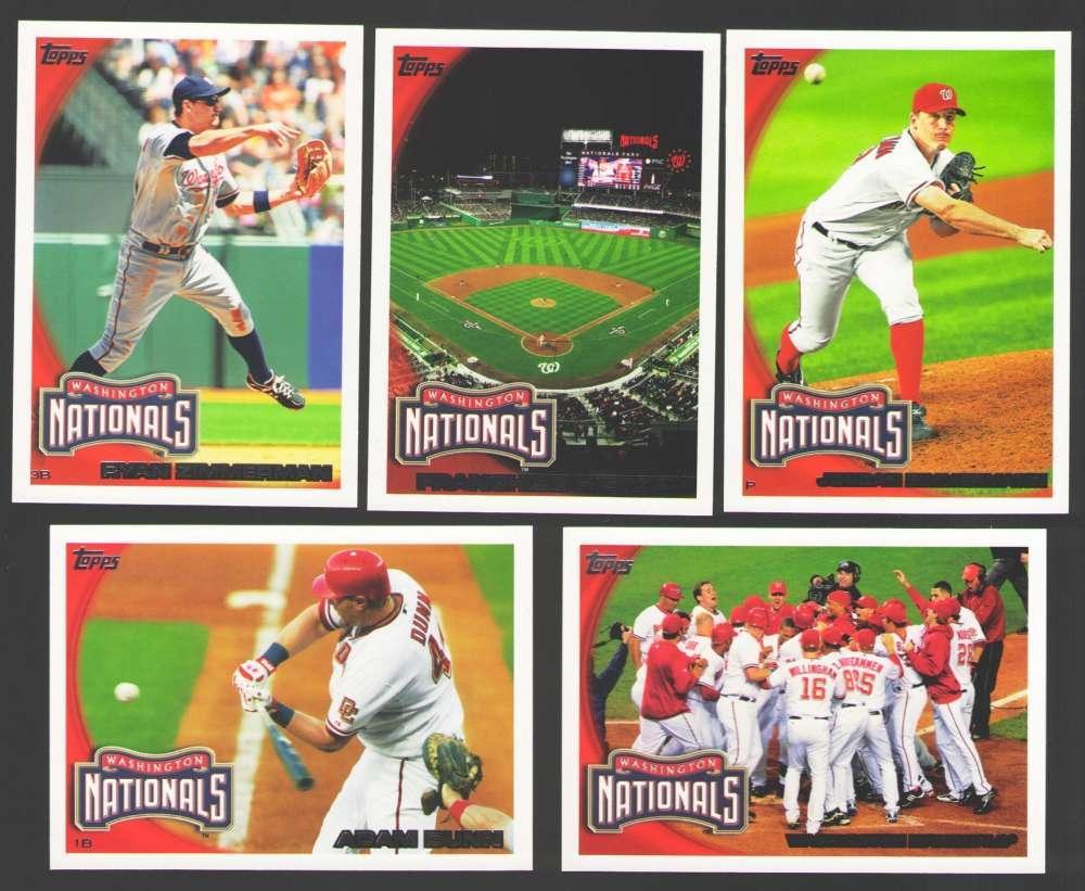 2010 TOPPS - WASHINGTON NATIONALS Team Set