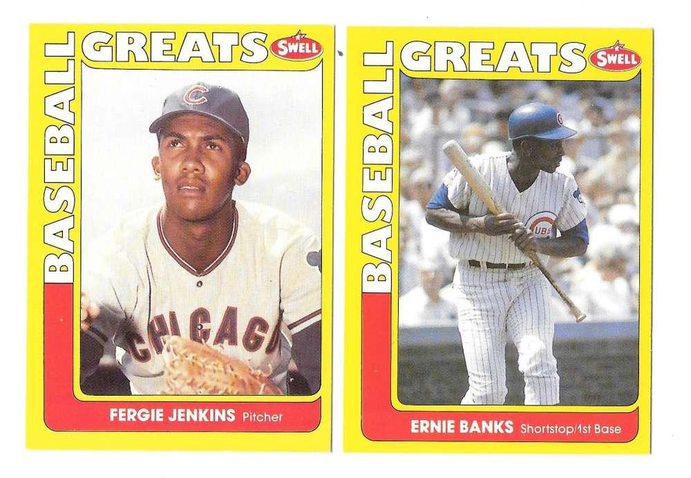 1991 Swell Baseball Greats - CHICAGO CUBS Team Set