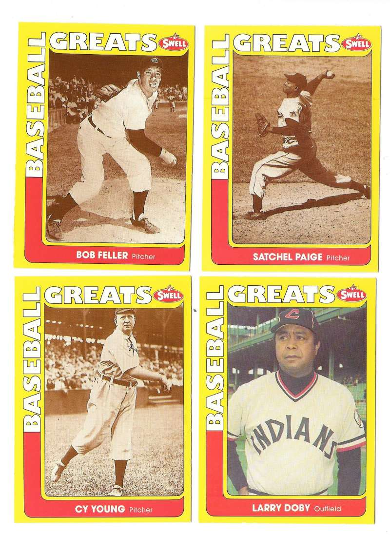1991 Swell Baseball Greats - CLEVELAND INDIANS Team Set