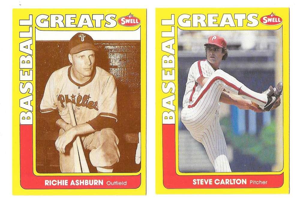 1991 Swell Baseball Greats - PHILADELPHIA PHILLIES Team Set